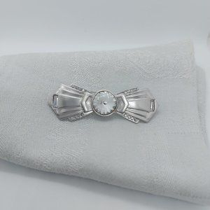 Vintage Art Deco Bow Shaped Brooch